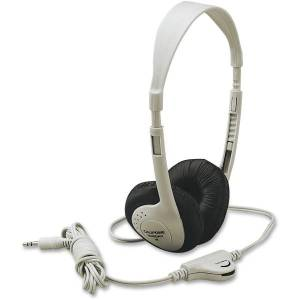 Califone Multimedia Stereo Headphone Wired Beige - Stereo - Beige - Mini-phone (3.5mm) - Wired - 25 Ohm - 20 Hz 20 kHz - Nickel Plated Connector - Ove