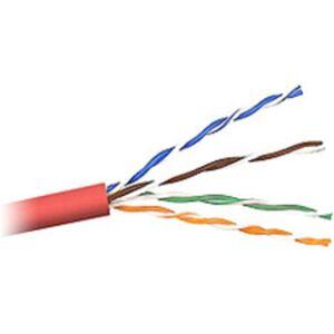 Belkin Cat. 5E UTP Plenum Bulk Cable - 1000ft - Red