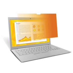 """3M Gold Privacy Filter Screen for Laptops, 14.1"""" Widescreen (16:10), Reduces Blue Light, GF141W1B"""