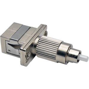 Tripp Lite Optical Fiber Cable Tester Adapter FC/SC 50/125 OM3 10 Gb M/F - 1 x FC Male Network - 1 x SC Female Network - Silver