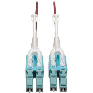 Tripp Lite 10 Gb Duplex Multimode 50/125 OM4 LSZH Fiber Patch Cable (LC/LC), Push/Pull Tabs, Magenta, 5 m (16 ft.)
