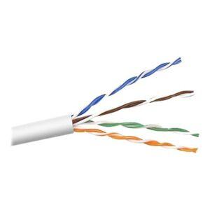 Belkin Cat.5e UTP Network Cable - 1000 ft Category 5e Network Cable for Network Device - Bare Wire - Bare Wire - White