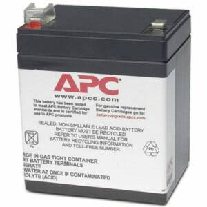 APC by Schneider Electric Replacement Battery Cartridge #45 - 12 V DC - Sealed Lead Acid (SLA) - Hot Swappable - 3 Year Minimum Battery Life - 5 Year