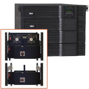 Tripp Lite UPS Smart Online 12000VA 8400W Rackmount 208/240/120V 12kVA Manual Bypass Hot Swap USB DB9 8URM Hardwire - 4U Rack/Tower - 6 Hour Recharge