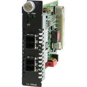Perle CM-1000MM-S2LC120 Media Converter - 2 x LC Ports - DuplexLC Port - 1000Base-SX, 1000Base-ZX - Internal