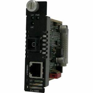 Perle CM-1000-S1SC120U Gigabit Ethernet Media Converter Managed Module - 1 x Network (RJ-45) - 1 x SC Ports - 10/100/1000Base-T, 1000Base-BX - Interna