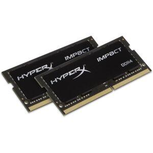 HyperX Impact - DDR4 - kit - 32 GB: 2 x 16 GB - SO-DIMM 260-pin - 2666 MHz / PC4-21300 - CL15 - 1.2 V - unbuffered - non-ECC - black