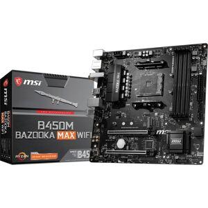 MSI B450M BAZOOKA MAX WIFI Desktop Motherboard - AMD Chipset - Socket AM4 - Micro ATX - Ryzen 3 Processor Supported - 64 GB DDR4 SDRAM Maximum RAM - U
