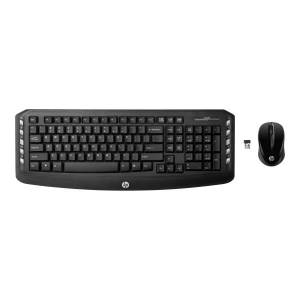 PNY HP Classic Wireless Keyboard & Mouse, Straight Full Size Keyboard, Ambidextrous Optical Mouse, Classic