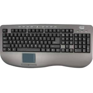 Adesso AKB-430UG Win-Touch Pro USB Keyboard wWth Glidepoint Touchpad, Graphite
