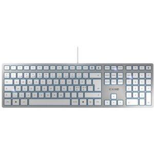 CHERRY ELECTRICAL PRODUCT CHERRY KC 6000 SLIM Keyboard - USB Interface - English (US) - SX Keyswitch - Silver, White