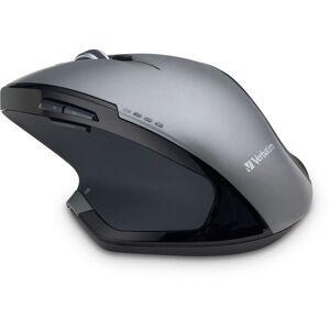 Verbatim Wireless USB Desktop 8-Button Deluxe Blue LED Mouse, Graphite