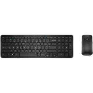 Dell� Wireless Keyboard & Mouse, Straight Compact Keyboard, Ambidextrous Laser Mouse, KM714
