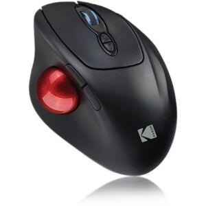 Kodak Wireless Ergonomic Trackball Mouse - Optical - Wireless - Radio Frequency - 1 Pack - USB - 4800 dpi - Scroll Wheel, Trackball - 7 Button(s) - Ri