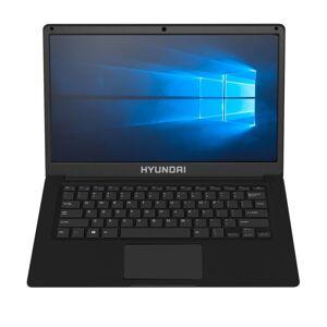 "Hyundai Thinnote Laptop,14.1"" Screen, Intel Celeron, 4GB Memory, 64 eMMc Storage, Windows 10, Black"