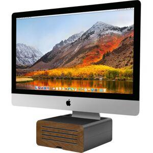 "TWELVE SOUTH LLC Twelve South HiRise Pro for iMac - Up to 27"" Screen Support - 4.5"" Height x 8.8"" Width - Desktop - Aluminum, Leather, Walnut - Gunmetal"