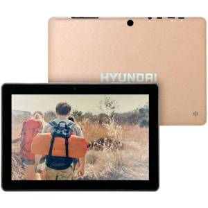 "Hyundai Koral 10X3 Wifi Tablet, 10"" Screen, 32 GB Storage, Android 9.0 Pie, Gold, HT1002W32"