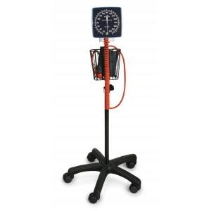 Medline Latex-Free Mobile Aneroid Blood Pressure Monitor, Adult, Black/Orange