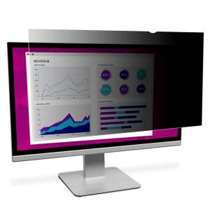 """3M High-Clarity Privacy Filter, For 23"""" Widescreen Monitors (16:9), Black, Reduces Blue Light, HC230W9B"""