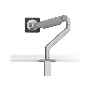 Humanscale M2.1 - Mounting kit (monitor arm, two-piece desk clamp mount) for LCD display (adjustable arm) - silver with gray trim - mounting interface