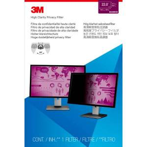 """3M High Clarity Privacy Filter for 22"""" Widescreen Monitor (16:10) - For 22"""" Widescreen Monitor - 16:10"""