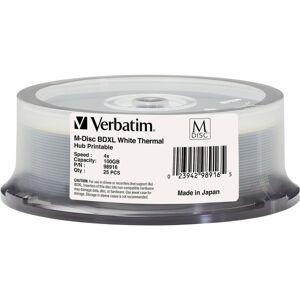 Verbatim Blu-ray Recordable Media - BD-R XL - 4x - 100 GB - 25 Pack Spindle - 120mm - Printable - Thermal Printable