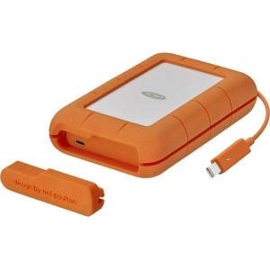 LaCie STFS4000800 4 TB Portable Hard Drive - External - Thunderbolt, USB Type C - 256-bit Encryption Standard - 3 Year Warranty