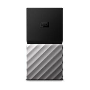 Western Digital My Passport 512GB Portable External Solid State Drive, 64MB Cache, WDBK3E5120PSL-WESN, Black/Silver