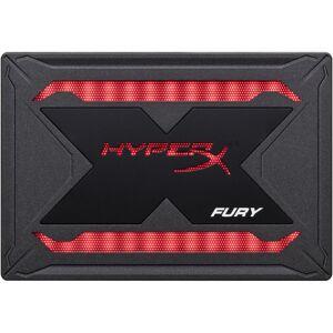 """Kingston HyperX FURY RGB 480 GB Solid State Drive - 2.5"""" Internal - SATA (SATA/600) - 550 MB/s Maximum Read Transfer Rate - 3 Year Warranty"""