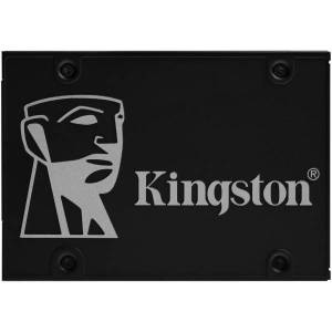 """Kingston KC600 1 TB Solid State Drive - 2.5"""" Internal - SATA (SATA/600) - 3.5"""" Carrier - Desktop PC, Notebook Device Supported - 600 TB TBW - 550 MB/s"""