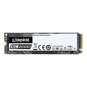 Kingston KC2000 1000 GB Solid State Drive - M.2 2280 Internal - PCI Express (PCI Express 3.0 x4) - Workstation Device Supported - 3200 MB/s Maximum Re