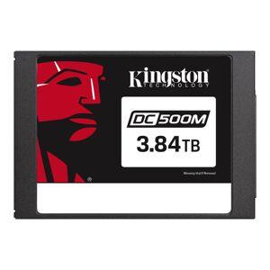 """Kingston DC500 DC500M 3.84 TB Solid State Drive - 2.5"""" Internal - SATA (SATA/600) - Mixed Use - 1.3 DWPD - 9110 TB TBW - 555 MB/s Maximum Read Transfe"""
