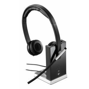Logitech Wireless Headset H820e - Stereo - Wireless - DECT - 328.1 ft - 150 Hz - 7 kHz - Over-the-head - Binaural - Circumaural - Echo Cancelling, Noi
