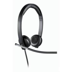 Logitech USB Headset Stereo H650e - Stereo - USB - Wired - 50 Hz - 10 kHz - Over-the-head - Binaural - Supra-aural - Noise Cancelling Microphone