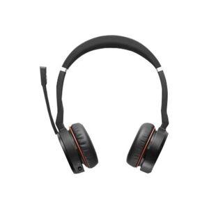 Jabra EVOLVE 75 Headset UC Stereo - Stereo - Wireless - Bluetooth - 100 ft - 20 Hz - 20 kHz - Over-the-head - Binaural - Circumaural - Noise Canceling