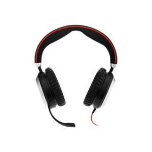 Jabra EVOLVE 80 Headset - Stereo - Mini-phone (3.5mm) - Wired - Over-the-head - Binaural - Circumaural - Noise Cancelling Microphone