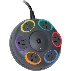 Kensington SmartSockets 6-Outlet Tabletop Surge Protector, 16' Cord, Gray, KMW62634