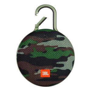 JBL Clip 3 Portable Bluetooth Speaker, Camo Squad, JBLCLIP3SQUAD