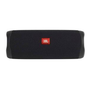 """JBL Flip 5 Portable Bluetooth Speaker, 8""""H x 3.8""""W x 3.1""""D, Black, JBLFLIP5BLKAM"""