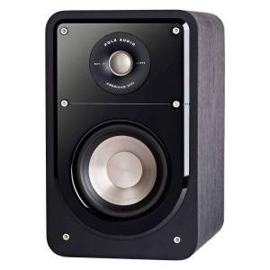 Polk Audio S15 Signature Series American Hi-Fi Home Theater Compact Bookshelf Speakers, Black, Pair, S15B