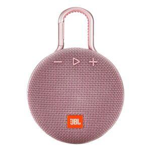JBL Clip 3 Portable Bluetooth Speaker, Pink, JBLCLIP3PINK