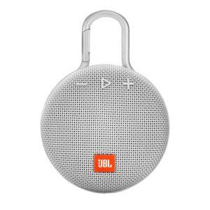 JBL Clip 3 Portable Bluetooth Speaker, White, JBLCLIP3WHT