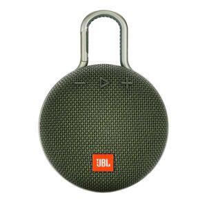 JBL Clip 3 Portable Bluetooth Speaker, Green, JBLCLIP3GRN