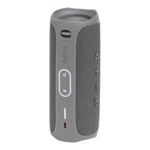 JBL Flip 5 Portable Waterproof Speaker, Gray, JBLFLIP5GRYAM-Q