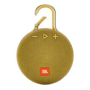 JBL Clip 3 Portable Bluetooth Speaker, Yellow, JBLCLIP3YEL