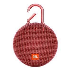 JBL Clip 3 Portable Bluetooth Speaker, Red, JBLCLIP3RED