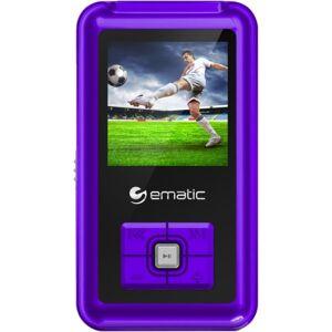 Ematic EM208VID 8 GB Purple Flash Portable Media Player - Photo Viewer, Video Player, Audio Player, FM Tuner, Voice Recorder, e-Book, FM Recorder - 1.