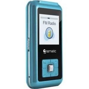 "Ematic EM208VID 8 GB Blue Flash Portable Media Player - Photo Viewer, Video Player, Audio Player, FM Tuner, Voice Recorder, e-Book, FM Recorder - 1.5"""