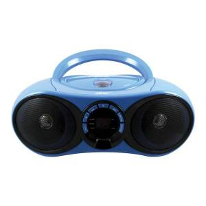"""Hamilton Electronics HamiltonBuhl AudioMVP HECHB100BT2 CD Boombox With FM Radio And Bluetooth Receiver, 8.5""""H x 11.8""""W x 4.5""""D, Blue"""
