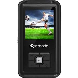 Ematic EM208VID 8 GB Black Flash Portable Media Player - Photo Viewer, Video Player, Audio Player, FM Tuner, Voice Recorder, e-Book, FM Recorder - 1.5
